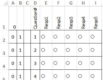 excel survey template with option buttons