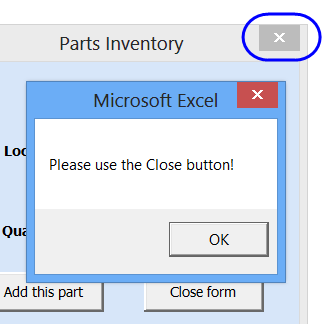 Create an Excel UserForm