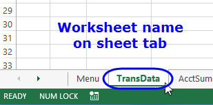 Excel Worksheet Macros