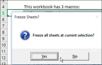 confirmation to unfreeze all sheets