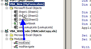 copy code module from different workbook