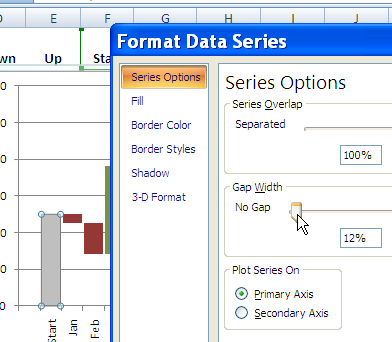 Create excel waterfall chart excel waterfall chart ccuart