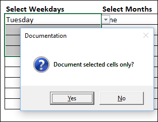 Excel Tools data validation selected cells only